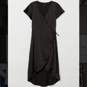 H&M ballerina wrap midi dress